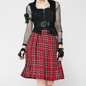 Tripp NYC Plaid Intentions Kilt Skirt